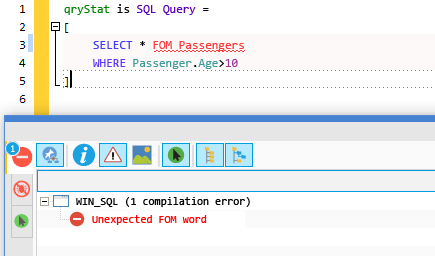 Error of SQL code detected in input