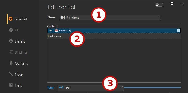 Edit control description