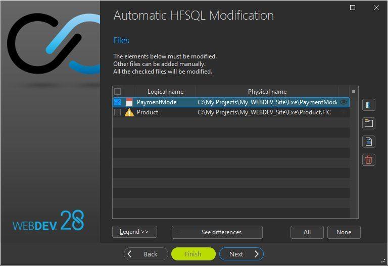 Automatic data file modification