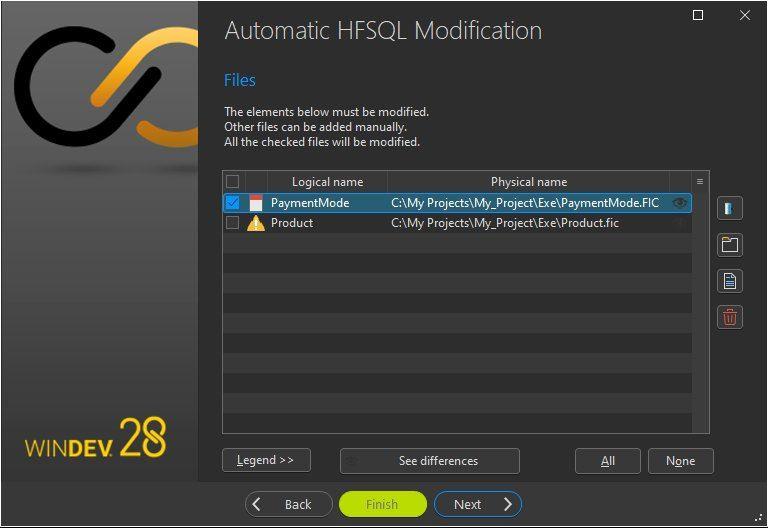Automatic data modification