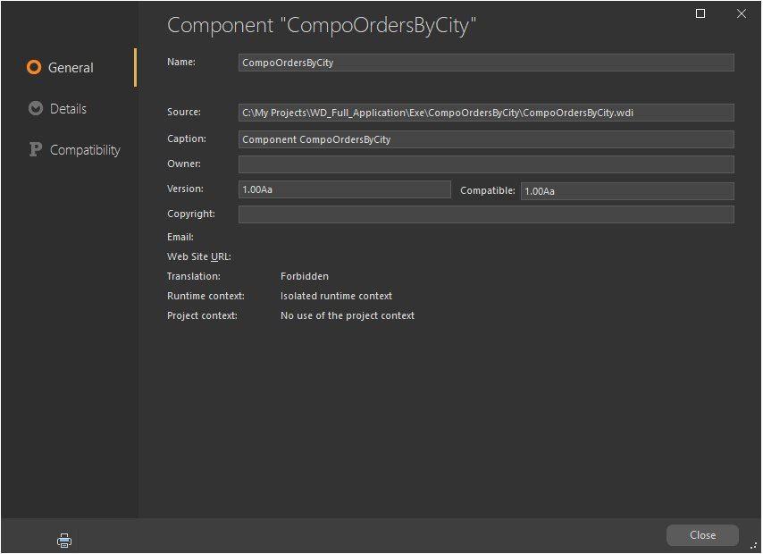 Description of component