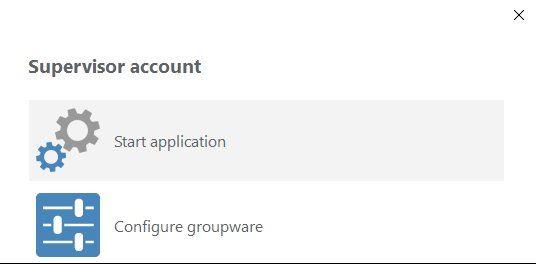 User groupware menu