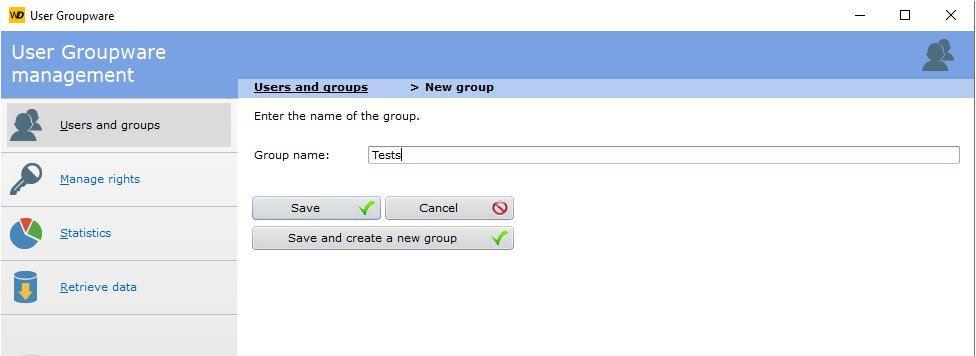 Groupware settings