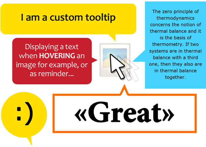 Custom tooltips