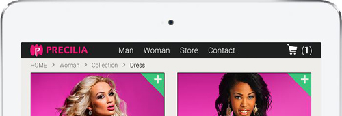 A navigation bar in extended mode
