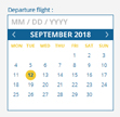 The default calendar style is more modern