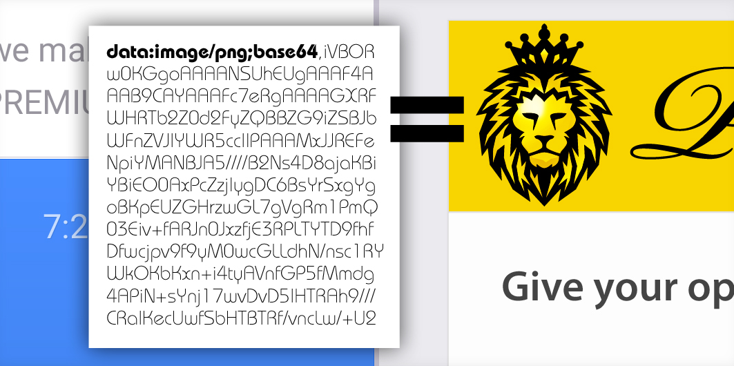 The lion is not an image but a source code!